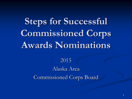 Alaska Area Commissioned Officer Awards Program
