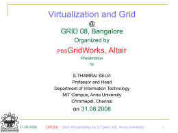 Grid Computing : Past, Present and Future