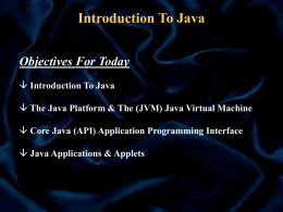 Concept 1 Getting Started In The World Of Java