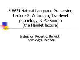 6.863 Lecture 2