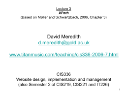 CIS336 Web design, implementation and management