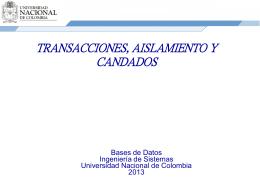 Transacciones en Bases de datos