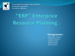 ERP'' Enterprice Resourse Planning .