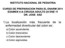 INSTITUTO NACIONAL DE PEDIATRIA CURSO DE …