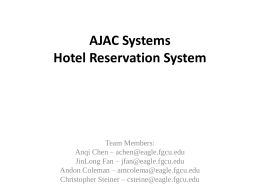 Hotel Reservation System Detailed Design