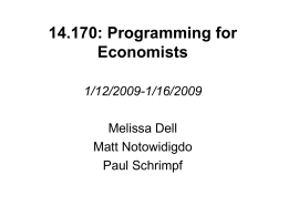 14.170: Programming for Economists