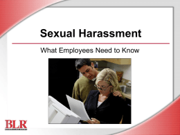 Sexual Harassment—What Employees Need to Know