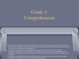 Grade 2: Comprehension - Durham Public Schools
