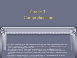 Grade 2: Comprehension - Durham Public Schools