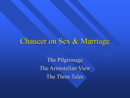 Chaucer on Sex & Marriage