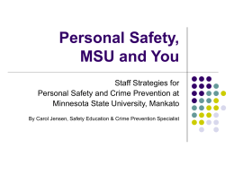 Personal Safety, CWU and You