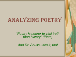 Analyzing Poetry - Mounds View School Websites