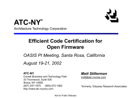 Efficient Code Certification for Open Firmware