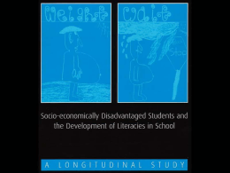 Socio-economically disadvantaged students and the