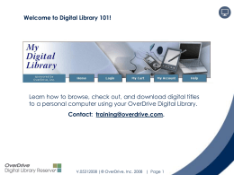 Introduction to Digital Books
