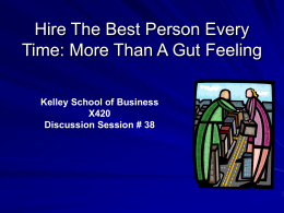 Hire The Best Person Every Time