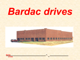 Bardac drives - TCA Industrial Controls