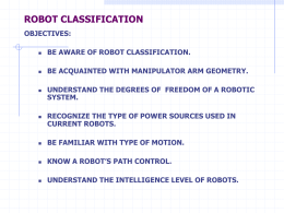 ROBOT CLASSIFICATION