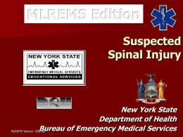 NYS Spinal Protocol Update