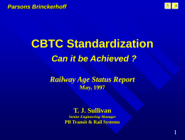 Communication Based Train Control - CBTC