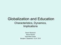 Globalization and Eduction - East