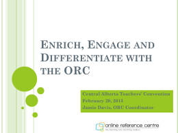 ORC Update – What's New and Different for 2012