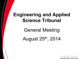 Secretary Report - The UC Engineering and Applied Science