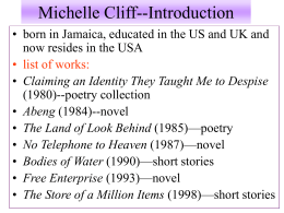 Michelle Cliff-Introduction
