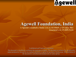 Agewell Foundation, India In Special Consultative Status