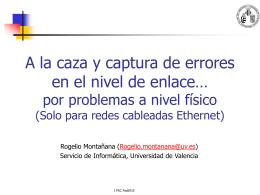 Red de fibra oscura de la Universidad de Valencia