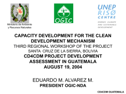 CD4CDM Project development assessment in Guatemala