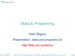 Stata 8, Programing
