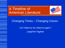 American Literature - Harrison High School