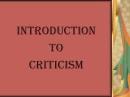 Biographical Criticism - Universiti Putra Malaysia