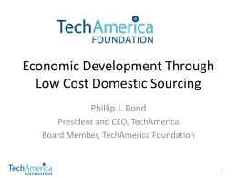 Economic Development Through Low Cost Domestic …