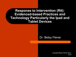 Response to Intervention (RtI): Evidenced