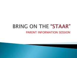 "BRING ON THE ""STAAR"" - Boerne Independent School …"