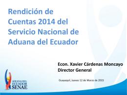 Diapositiva 1 - ADUANA DEL ECUADOR