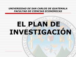 EL PLAN DE INVESTIGACION