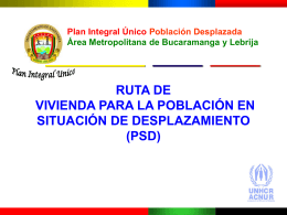 RUTA VIVIENDA - DISASTER info DESASTRES