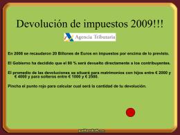 devoluciones 2009 - Escudos y Enlaces gratis