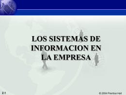 Chp 2 Information Systems in the Enterprise