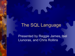 The SQL Language