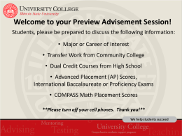 Welcome to Preview! - Illinois State University