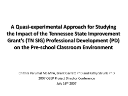 A Quasi-experimental Approach for Studying the Impact …