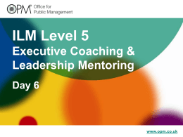 ILM Level 7 Executive Coaching & Leadership Mentoring