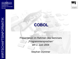 COBOL - Department of Information Systems
