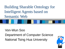 Building Sharable Ontology for Intelligent Agents based …