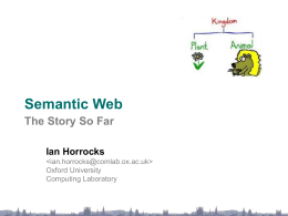 Semantic Web: the Story So Far