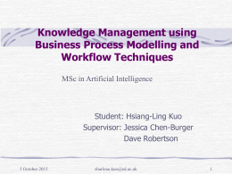 Knowledge Management using Business Process …